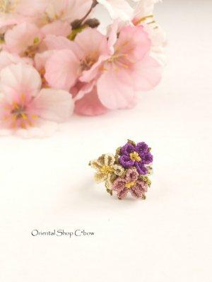 画像2: 一番人気☆シルクイーネオヤ リング|3つ花