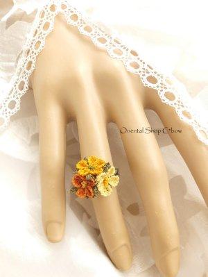 画像1: 一番人気☆シルクイーネオヤ リング 3つ花