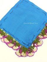 ブルサ:カラジャベイ|アンティークオヤスカーフ|シルクイーネオヤ:ダークブルー