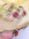 画像3: ブルサ:カラジャベイ|キャートヤズマ|木版アンティークオヤスカーフ|シルクイーネオヤ:チューリップ