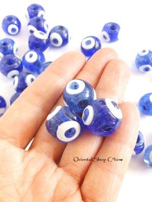 画像3: 職人さんの手作りガラスビーズ 青珠ナザル 3個セット