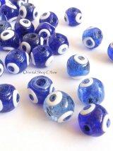 職人さんの手作りガラスビーズ|青珠ナザル|3個セット