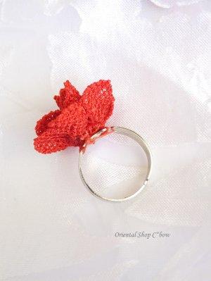 画像3: 一番人気☆シルクイーネオヤ リング 薔薇 トマトレッド