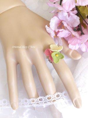画像2: 一番人気☆シルクイーネオヤ リング|3つ花チューリップ
