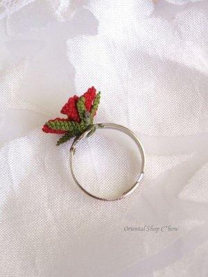 画像3: シルクイーネオヤリング|一輪の花|レッド