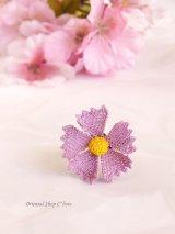 シルクイーネオヤリング|一輪の花|矢車草