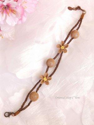 画像3: シルクイーネオヤブレスレット 花と実 シナモン