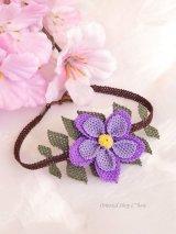 シルクイーネオヤブレスレット|二重の花