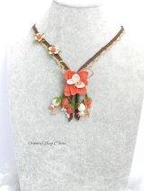 シルクイーネオヤ:ネックレス|花束|コーラルオレンジ