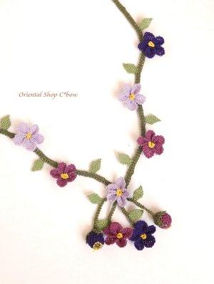 画像4: シルクイーネオヤネックレス 小花の小道