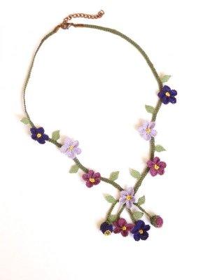 画像3: シルクイーネオヤネックレス 小花の小道