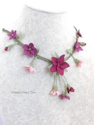 画像3: シルクイーネオヤネックレス|道ばたのお花