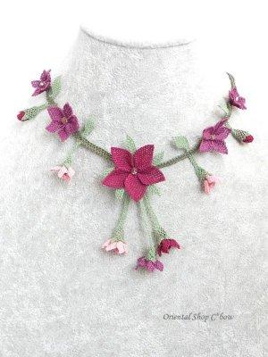 画像2: シルクイーネオヤネックレス|道ばたのお花