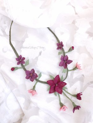 画像4: シルクイーネオヤネックレス|道ばたのお花