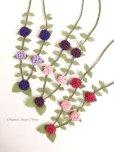 画像7: シルクイーネオヤネックレス|紫陽花のようなブルーベリー|ローズレッド&ピンク