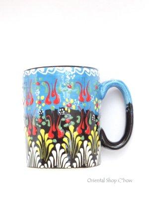 画像1: マグカップ|キュタフヤ*陶器|カラフル|水色系