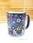 画像2: マグカップ|キュタフヤ*陶器|カラフル|ブルー系