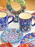 画像7: マグカップ|キュタフヤ*陶器|カラフル|ブルー系